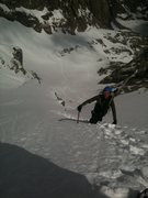 Rock Climbing Photo: Looking down at Brian Montgomery.