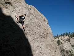 Rock Climbing Photo: Don't Look at Me! (5.10a), Williamson Rock