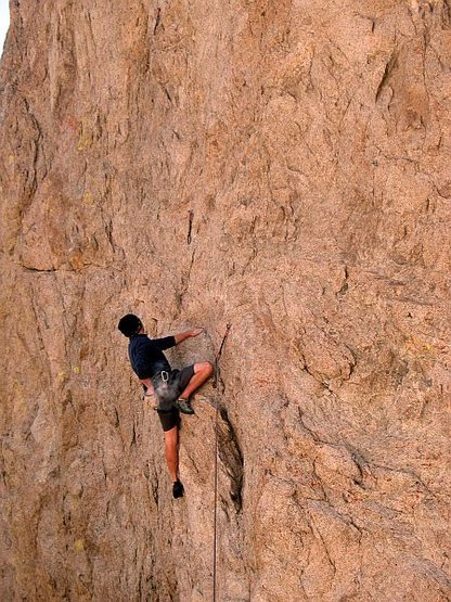 Rock Climbing Photo: Into the flake system of The Hired Gun (5.11a), Wi...