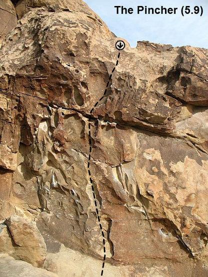 Rock Climbing Photo: The Pincher (5.9), Joshua Tree NP