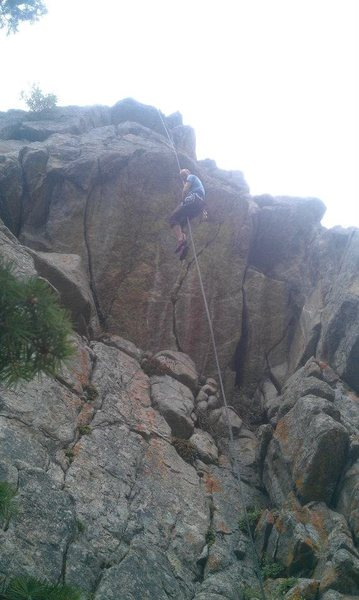 Lowering on one of my favorite routes ever, at Avalon in Boulder Canyon