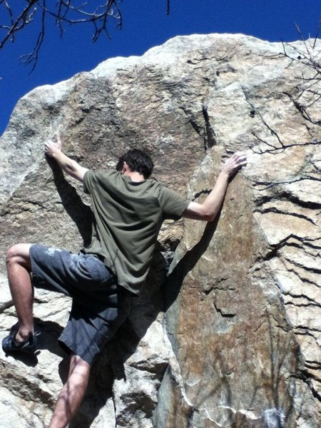 There's some real solid holds at the top.