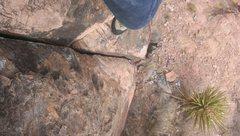Rock Climbing Photo: Lookin down a few feet up