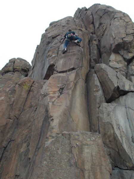 Rock Climbing Photo: Pulling through the crux, WWJB.