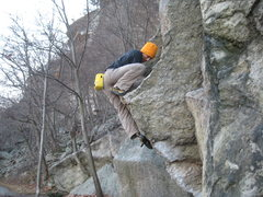 Rock Climbing Photo: Fun mantle!