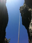 Rock Climbing Photo: Rapping into the Wishing Well. Upper Gorge, Emeral...