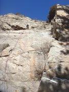 Rock Climbing Photo: Steve T. taking a look at the upper section of Doc...