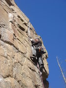 Rock Climbing Photo: Leading Finger Crack.  What a great route!  Photo ...