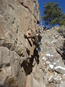 Rock Climbing Photo: Steve Thomas working the lower section of Antagoni...
