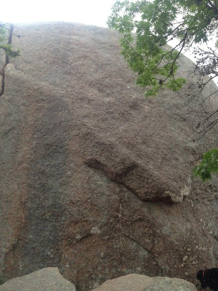 Rock Climbing Photo: Little Hans. Starts off the big flake on the lower...