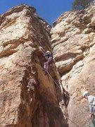 Rock Climbing Photo: Emma sending Project Focus.