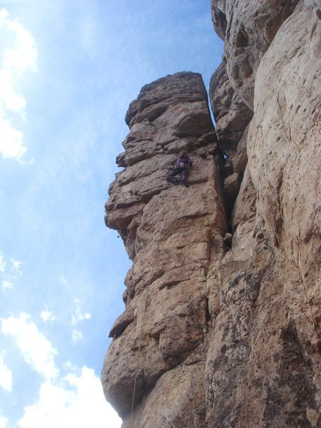 Rock Climbing Photo: Emma leading R.A.M.M.