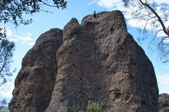 Rock Climbing Photo: Setting up the rappell