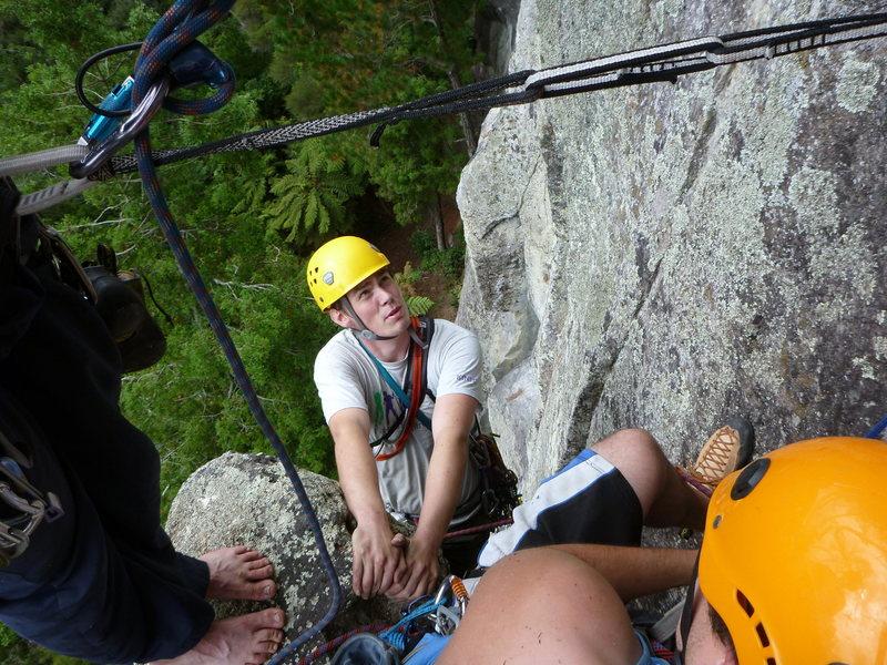 Rock Climbing Photo: Pitch 2 belay ledge