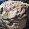 Problem 2 on the Meteorite boulder