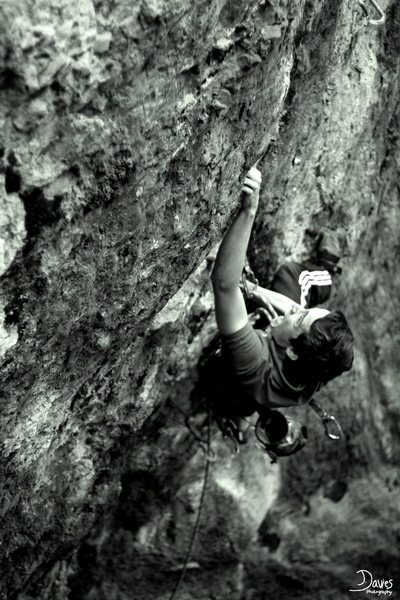 ELIOT ON A CLASSIC 8A+ IN SOUTH WALES