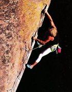 Rock Climbing Photo: Wolfgang Schweiger on New Horizon (5.12d), Buttonr...