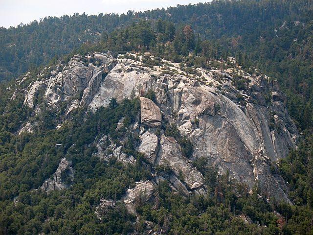 Rock Climbing Photo: Suicide Rock from Tahquitz Rock, San Jacinto Mount...