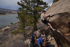 Rock Climbing Photo: That wild mantle.