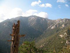 Rock Climbing Photo: One Hour Rock from Tahquitz Rock, San Jacinto Moun...