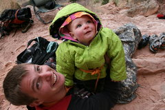 Rock Climbing Photo: hanging out with uncle Micah