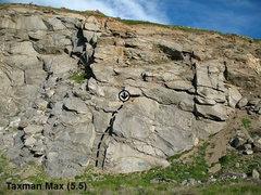 Rock Climbing Photo: Taxman Max (5.5), Riverside Quarry