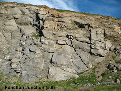 Rock Climbing Photo: Function Junction (5.9), Riverside Quarry
