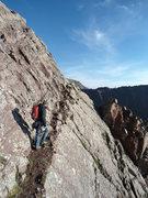 Rock Climbing Photo: Ledge Traverse Crestone Needle