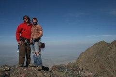 Rock Climbing Photo: Summit Crestone Needle via Ellingwood Ledges