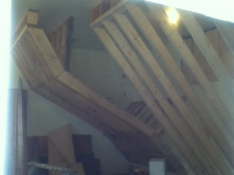 Rock Climbing Photo: roof section and 40 degree wall framing