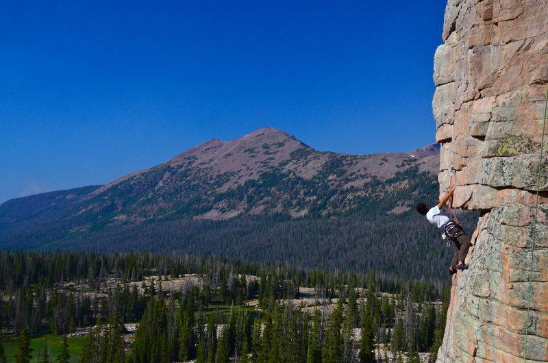 Rock Climbing Photo: Dean doin his thing