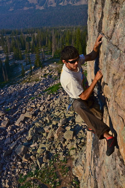 Rock Climbing Photo: dean with the bossy heel hook