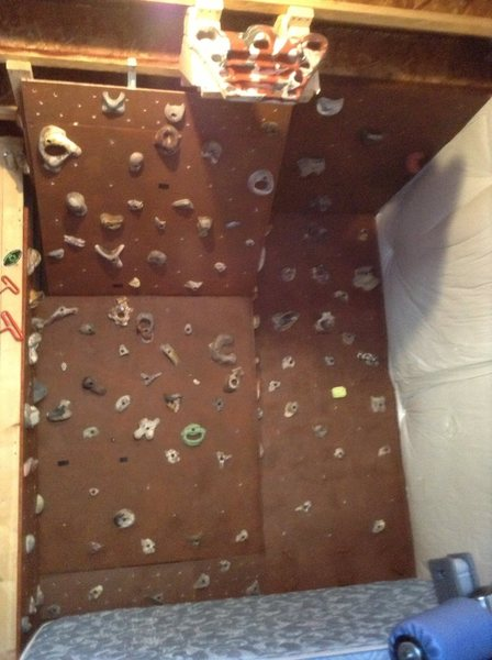 Rock Climbing Photo: Basement Woody.   1st time build