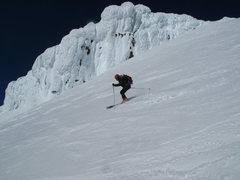 Rock Climbing Photo: Goran, starting down the Roman Wall
