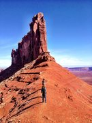 Rock Climbing Photo: Walking to Fine Jade, Moab, UT. An unforgettable r...