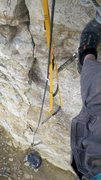 Rock Climbing Photo: Solo aid practice.