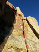 Rock Climbing Photo: Follow the red line!