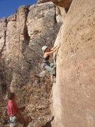 Rock Climbing Photo: Jes starting up Scarface.