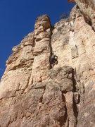 Rock Climbing Photo: Sadie climbing Lefty (Boulder Bitches).