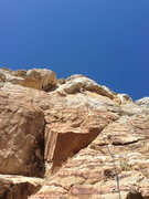 Rock Climbing Photo: Roof moves ahead.... much easier without gail-forc...