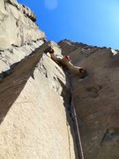 Rock Climbing Photo: The crux opener of Shrinking Ball Disease.  Party ...