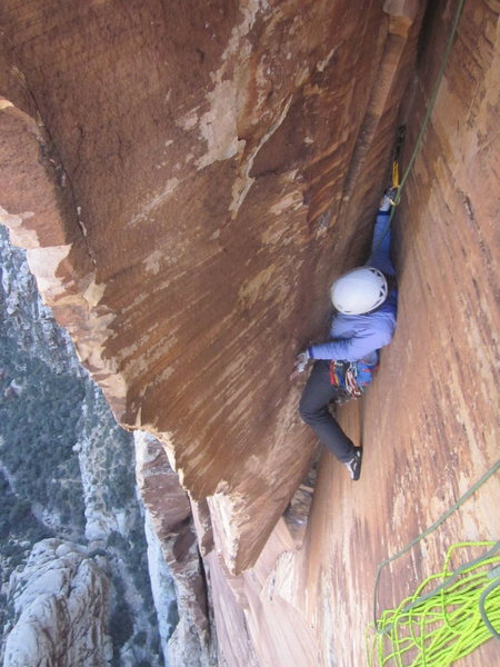 One of the coolest pitches I've ever climbed! Pitch 8