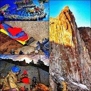 Rock Climbing Photo: open book 5.7 nice sunrise with good friends, grea...