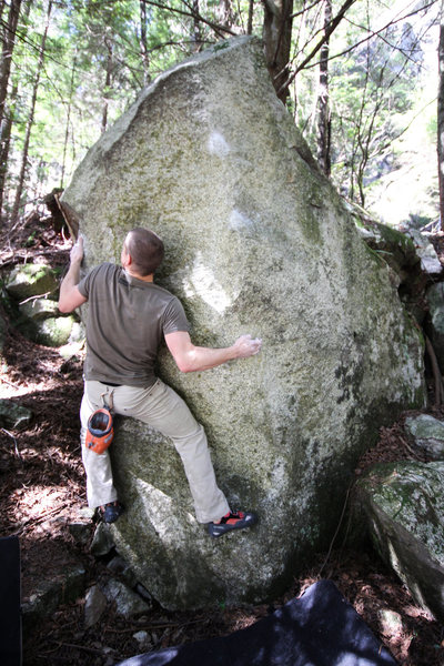 Short, but good movement and a good warm-up boulder.