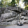 Traverse wall in Murrin Park.  Lots of fun here.