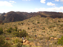 Rock Climbing Photo: View of the mellower hike in from the east. Photo ...