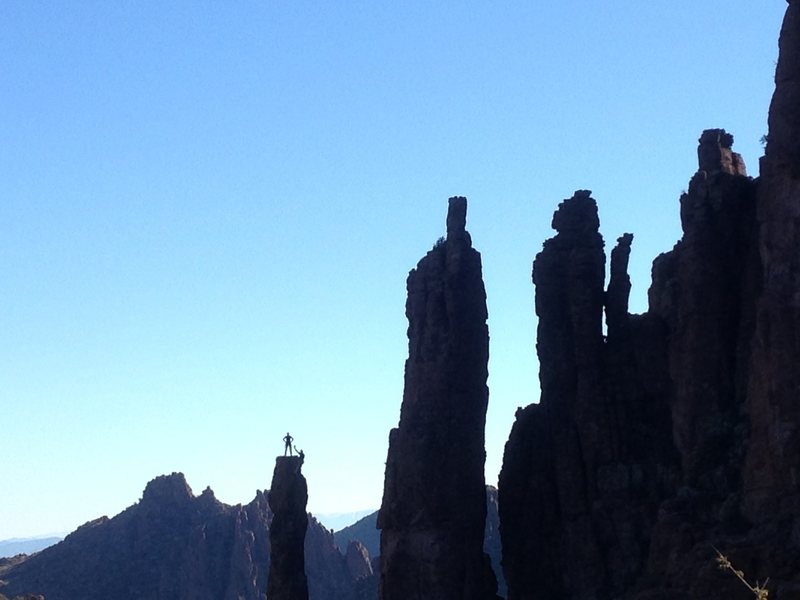 Rock Climbing Photo: The Totem Pole, Lower Devil's Canyon, Arizona.