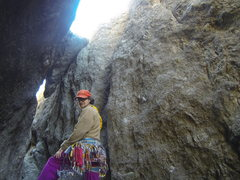 Rock Climbing Photo: Tator Tot at the start of the Original Route. This...