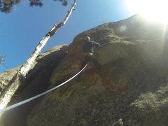 Rock Climbing Photo: Enjoying the feeding frenzy moves on the roof pull...