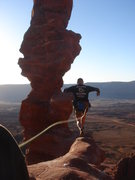 Rock Climbing Photo: Dammit Steve, I almost couldn't pay out the rope f...